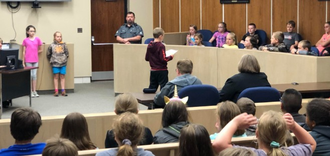 Surline Elementary fourth graders took a field trip to the 34th District Court to participate in a real life mock court trial.