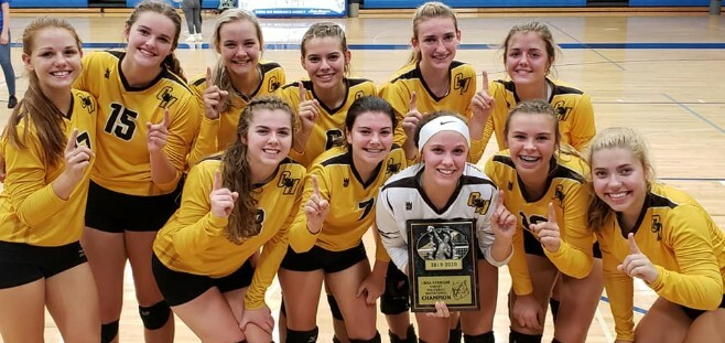Varsity Volleyball Team won championship in Oscoda