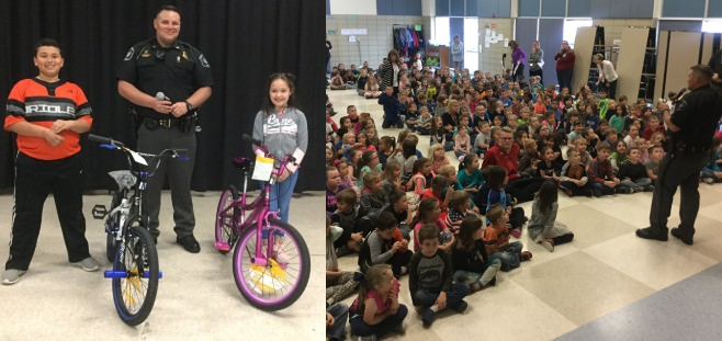 West Branch City Police Department visits Surline Elementary to review bike safety - May 2019